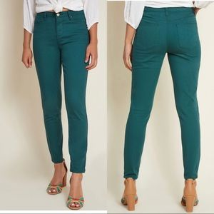 ModCloth Exceptional Staple Skinny Jeans in Green